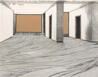 CHRISTO Wrapped Floors, Project for Haus Lange Museum, Krefeld.