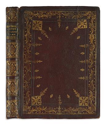 DURANTI, DURANTE, Count. Rime . . . Seconda Edizione.  1755.  Inscribed by the author.