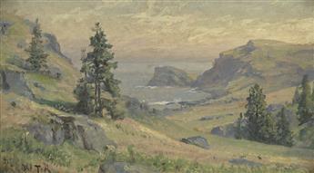 WILLIAM TROST RICHARDS Two landscape oils.