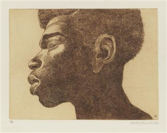 CHARLES WHITE (1918 - 1979) Head of A Man.