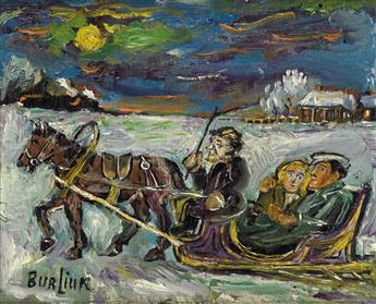DAVID BURLIUK Sleigh Riders.