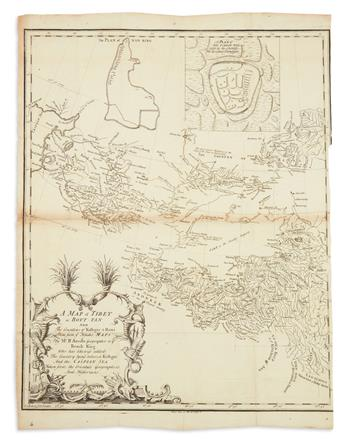 DANVILLE, JEAN BAPTISTE BOURGUIGNON. A Map of Tibet or Bout-Tan and the Countries of Kashgar & Hami Done from Ye Jesuites Maps.