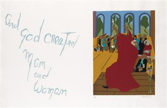 JACOB LAWRENCE (1917 - 2000) And God created man and woman.