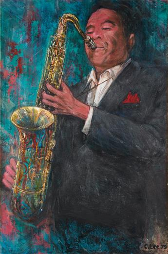CLIFFORD L. LEE (1926 - 1985) Untitled (Saxophone Player).