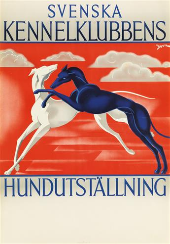 BOVIL (BO VILSON, 1910-1949). SVENSKA KENNELKLUBBENS / HUNDUTSTÄLLNING. 1950. 39x27 inches, 99x69 cm. J. Olséns, Stockholm.