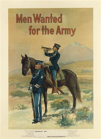 MICHAEL P. WHELAN (DATES UNKNOWN). MEN WANTED FOR THE ARMY. Circa 1910. 40x29 inches, 103x75 cm.