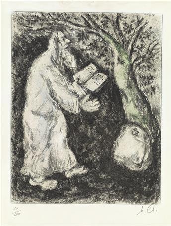 MARC CHAGALL Josué et la pierre de Sichem.