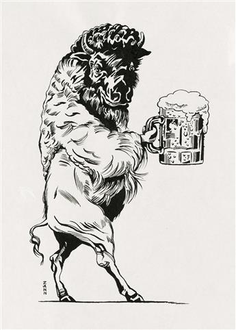 ADVERTISING BEER NICKY ZANN. 'Beer Bison.'