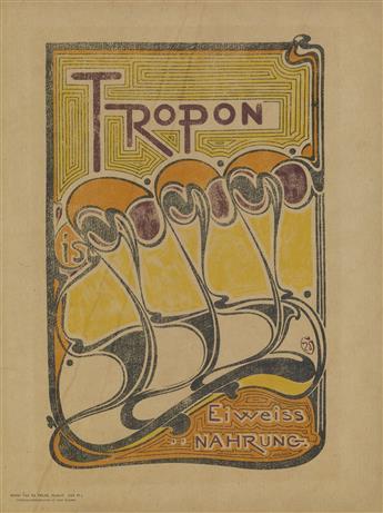 HENRY CLEMENS VAN DE VELDE (1863-1957). TROPON. 1898. 14x10 inches, 36x27 cm.