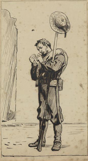 FREDERIC REMINGTON Study of a Foot Soldier.