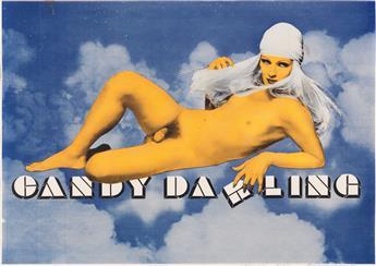 RICHARD BERNSTEIN (1939-2002). CANDY DARLING. Circa 1970. 22x32 inches, 56x82 cm.