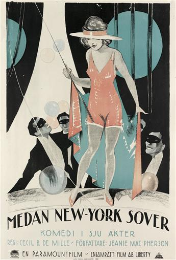 DESIGNER UNKNOWN. MEDAN NEW - YORK SOVER. 1923. 34x23 inches, 88x59 cm.