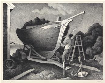 THOMAS HART BENTON Repairing the Sloop.