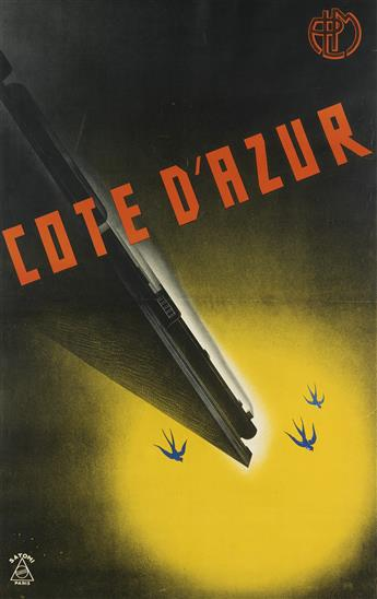 MUNETSUGU SATOMI (1900-1995). COTE DAZUR. 1934. 38x24 inches, 97x61 cm. Le Novateur, Paris.
