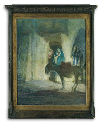 HENRY OSSAWA TANNER (1859 - 1937) At the Gates (Flight into Egypt).