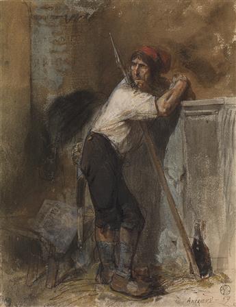 CLÉMENT-AUGUSTE ANDRIEUX (Paris 1829-1880 Samois-sur-Seine) A Sans-Culotte with a Pike.