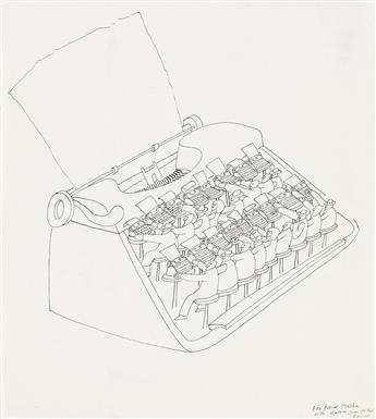 JEAN-MICHEL FOLON. (TYPEWRITERS) Olivetti.