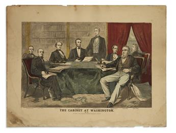 (LINCOLN, ABRAHAM.) The Cabinet at Washington.