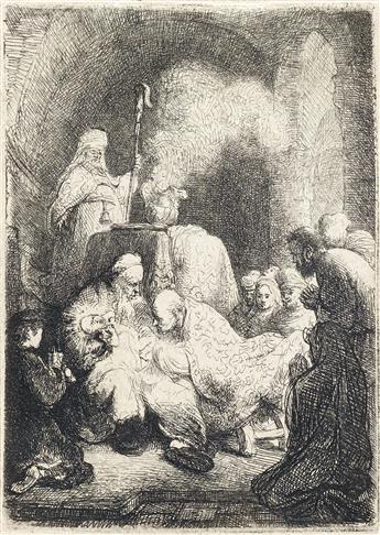 REMBRANDT VAN RIJN The Circumcision: Small Plate.