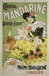 DESIGNER UNKNOWN CRISTAL MANDARINE. Circa 1906. 51x33 inches. Emile Charles and Files, Limoges.