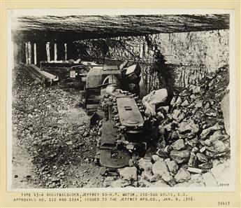 (COAL MINING) Album with 70 photographs depicting the range of machines required for coal mining operations.
