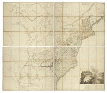 ARROWSMITH, AARON. A Map of the United States of North America Drawn from a Number of Critical Researches.