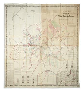 (WEST VIRGINIA.) Swann, John S. Title Map of the Coal Field of the Great Kanawha Valley.