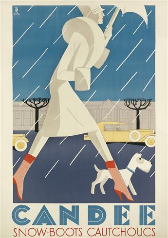FRANCO BARBERIS (1905-1992). CANDEE. 1929. 50x36 inches, 128x91 cm. A. Trüb & Cie., Aarau.