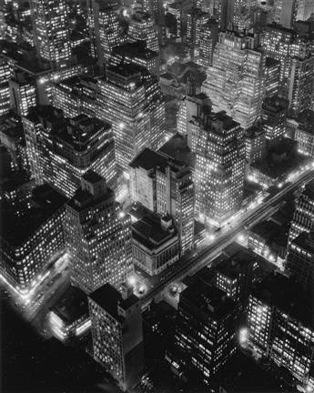BERENICE ABBOTT (1898-1991) New York at Night.