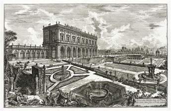 GIOVANNI B. PIRANESI Veduta della Villa dellEmo Sig. Card. Alesandro Albani fuori di Porta Salaria.