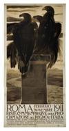 DUILIO CAMBELLOTTI (1876-1960) ROMA. 1911. 77x39 inches. Stab. Dott. E. Chappuis, Bologna.