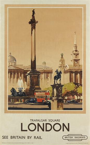 CLAUDE HENRY BUCKLE (1905-1973). LONDON / TRAFALGAR SQUARE. 40x25 inches, 101x63 cm. London Lithographic Co., London.