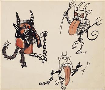 ANDRÉ FRANÇOIS. Three Little Monsters.