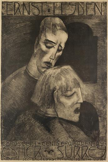 ERNST LEYDEN (1892-1969). ERNST LEYDEN. 1922. 37x25 inches, 94x63 cm. [Dieperink, Amsterdam.]