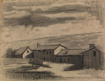 ALBERT LEBOURG (Montfort-sur-Risle 1849-1928 Rouen) View of a Farmstead.