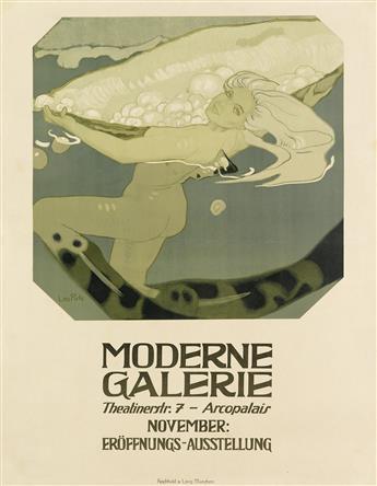 LEO PUTZ (1869-1940). MODERNE GALERIE. 1909. 41x31 inches, 106x78 cm. Reichhold & Lang, Munich.