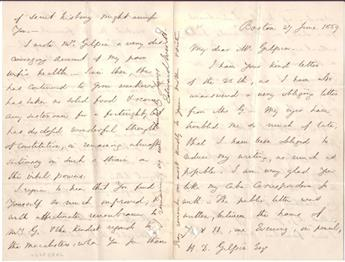 EVERETT, EDWARD. Autograph Letter Signed, to Henry Dilworth Gilpin (My dear Mr. Gilpin),