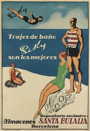 DESIGNER UNKNOWN. SIKY / SANTA EULALIA. 47x32 inches, 119x81 cm. Seix & Barral Herms, Barcelona.