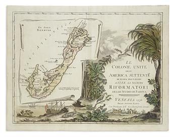 (BERMUDA.) Zatta, Antonio. Le Colonie Unite dell America Settentrle / Le Isole Bermude.