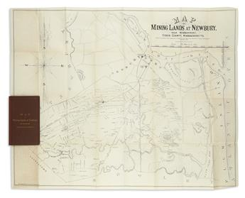 LITTLE, N., Jr. Map of Mining Lands at Newbury, Near Newburyport, Essex County, Massachusetts.