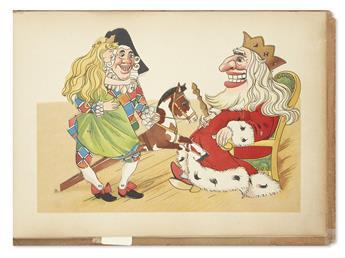 (CHILDRENS LITERATURE.) MEGGENDORFER, LOTHAR. Prinzessin Rosenhold. Ein Ziehbilderbuch.