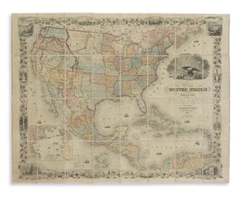 COLTON, JOSEPH HUTCHINS. Map of the United States of America,