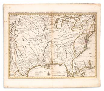 DE LISLE, GUILLAUME; and COVENS, JOHANNES & MORTIER, CORNELIS. Carte de la Louisiane et du Cours du Mississipi.
