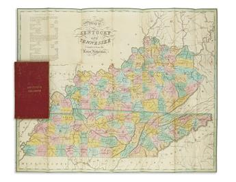 FINLEY, ANTHONY. Map of Kentucky and Tennessee.