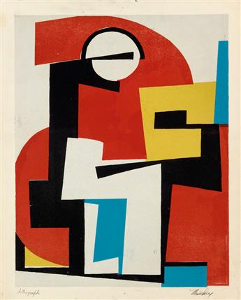 MAVIS PUSEY (1928 -   ) Untitled (Abstract Composition).