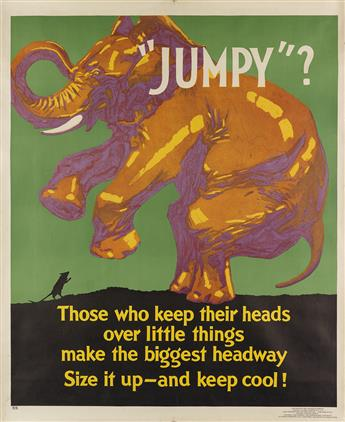 DESIGNER UNKNOWN. JUMPY? 1929. 43x35 inches, 111x90 cm. Mather & Company, Chicago.