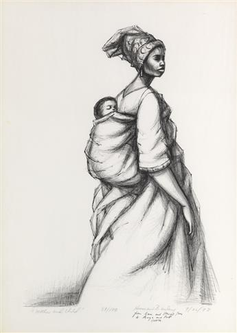 HERMAN KOFI  BAILEY (1931 - 1981) Mother and Child.
