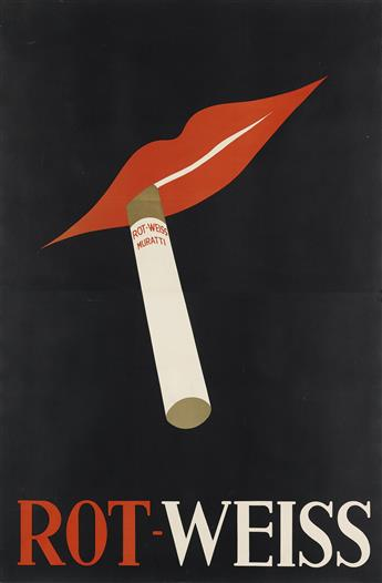 DESIGNER UNKNOWN. ROT - WEISS MURATTI. Circa 1931. 56x37 inches, 142x95 cm.