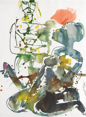 ROMARE BEARDEN (1911 - 1988) The Obeahs Choice (Le Choix de la Sorcière; Choua Manmbo-A).