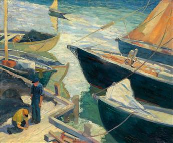 ALLAN FREELON (1895 - 1960) Baiting Trawls.